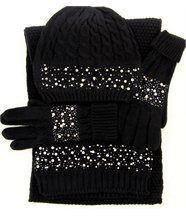 Ensemble bonnet + gants +écharpe laine beatrice no