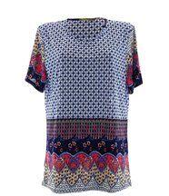 Tee shirt  maille jersey  -  VANNA  - ethnique