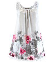 Robe  coton - rosanna -  fleurs blanc