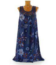 Robe  dentelle ample -marguerite -bleu marine