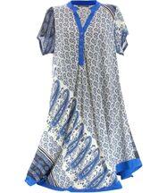 Robe asymétrique bleu royal CORALIE