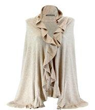 étole châle laine volants beige CESARE