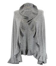 Étole châle laine volants gris cesare