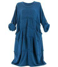 Robe laine bohème longue bleu rosalie