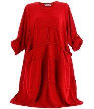 Robe laine bohème longue rouge rosalie