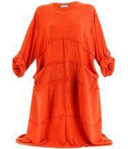 Robe laine bohème longue orange ROSALIE