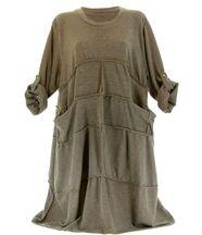 Robe laine bohème longue taupe ROSALIE