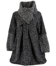Manteau laine bouillie Noir VIOLETTA