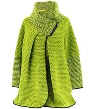 Manteau laine bouillie vert violetta