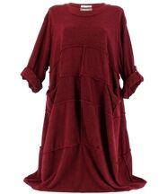 Robe laine hiver longue  bordeaux ROSALIE