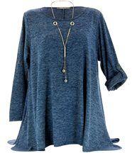 Tunique longue grande taille bleu pamella