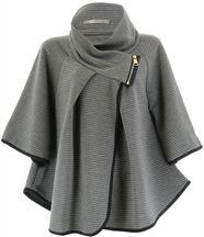 Cape manteau grande taille gris mathilda