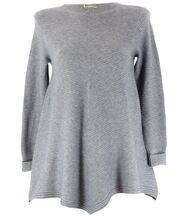 Pull tunique trapèze laine gris CHRISTOPHE