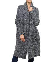 Manteau laine bouclette ample ARGENTINA gris