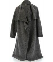 Manteau hiver laine bouillie AURELIA gris