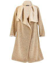 Manteau hiver laine bouillie AURELIA beige