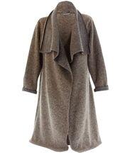 Manteau  laine bouillie aurelia taupe