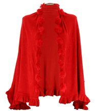 Etole hiver pompons CATHY rouge