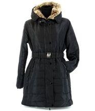 Doudoune longue capuche ASTRIDE noir