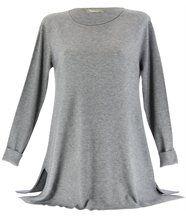 Pull long laine évasé diego gris