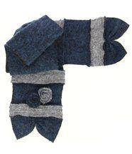 Écharpe longue laine bouillie bleu albert