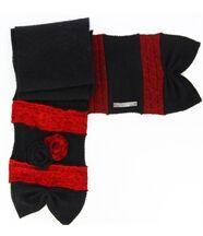 Écharpe longue laine bouillie noir  albert