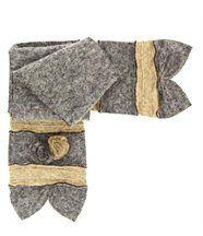 écharpe longue laine bouillie gris ALBERT