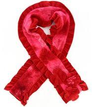 Écharpe longue laine bouillie rouge  anatole