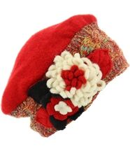 Bonnet femme hiver laine mathieu rouge