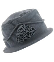 chapeau cloche polaire hiver CASTOR gris