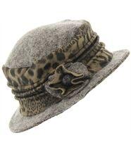 chapeau cloche laine bouillie BASTIEN gris