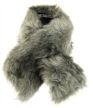 écharpe fourrure imitation MERLIN gris