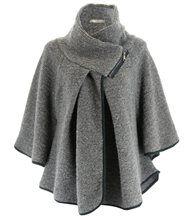 Cape laine bouillie hiver  josepha gris