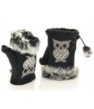 Mitaines gants CHOUETTE noir