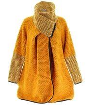 Manteau laine bouillie jaune VIOLETTA