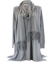 Pull long et écharpe renata gris