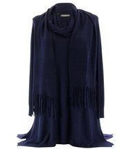 Pull long et écharpe renata bleu