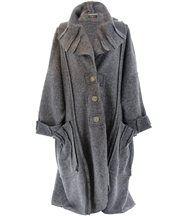 Manteau long hiver laine bouillie karla  gris