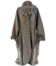 Manteau long hiver laine karla taupe