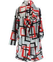 Manteau laine hiver grande taille JULIO gris