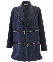 Veste laine hiver grande taille sergio bleu