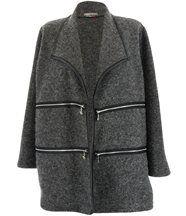 Veste laine hiver grande taille sergio gris