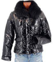 Doudoune fourrure parka renard noir manteau - torr