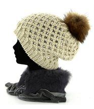 Bonnet Fourrure Hiver Elevage Strass  - OLYMPE