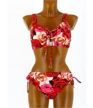 Maillot de Bain Bikini Push Up 44/52  Rouge - ANNI