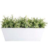 Jardinière blanc en zinc 40x15x15cm