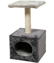 Arbre à chat en Fourrure synthétique et Sisal Solo 30x30x57cm