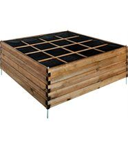 Carré potager Estragon 16 cases en Pin teinté 126x126x59.8cm