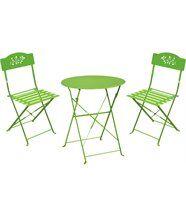 Ensemble de jardin Diana 1 table + 2 chaises
