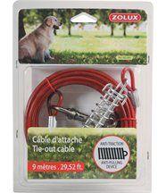 Cable d'attache avec ressorts anti traction